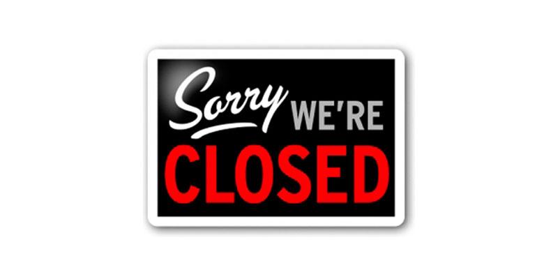 Sorry we're closed – chiusura estate 2017