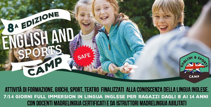 ISCRIZIONI ENGLISH & SPORTS (SAFE) CAMP 2020